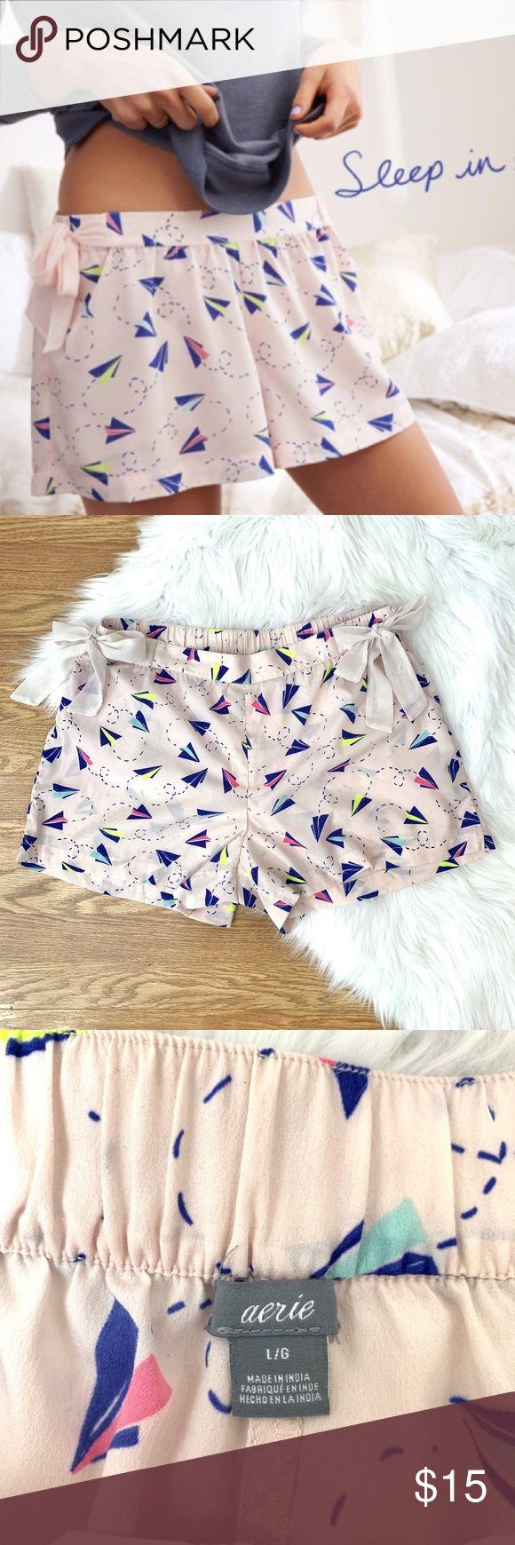 Aerie Paper Plane Pink Sleep Shorts {B} Aerie Paper Plane Pink Sleep Shorts  +co… – My Posh Picks