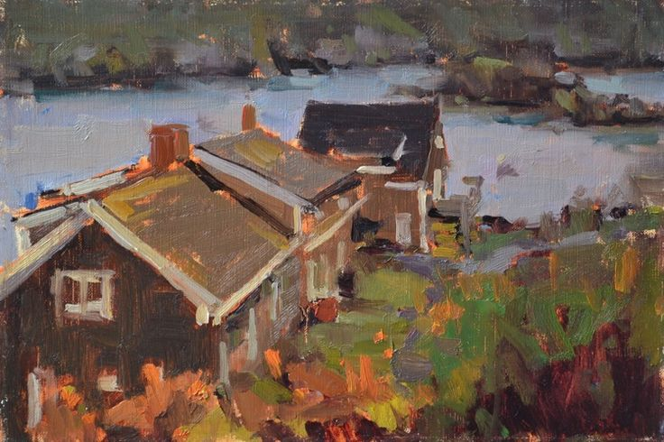 View From the Inn (8x10 oil on linen)