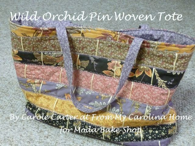 Wild Orchid Pin Woven Jelly Roll Tote « Moda Bake Shop