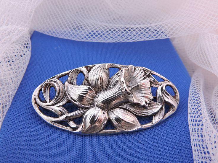 Jugendstil Art Nouveau Nederlands Zilveren Gestileerde Broche Narcis Bloem door Habbekratssmuk op Etsy