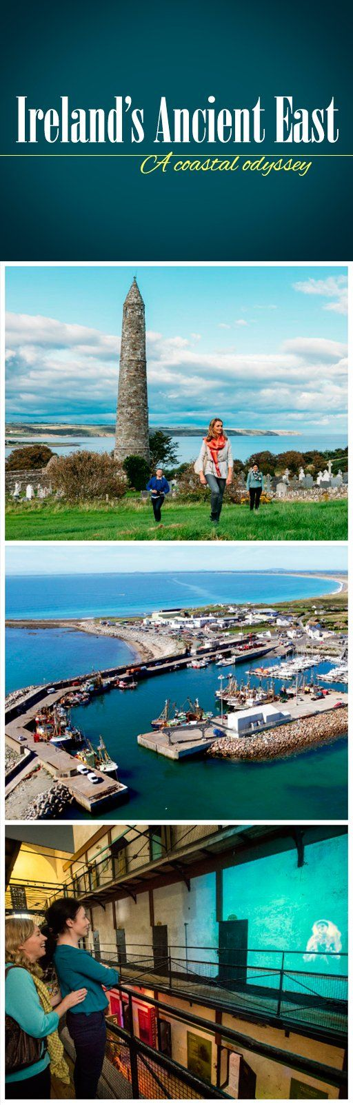If you're looking for coastal gems steeped in history, Ireland's Ancient East is your number one region. From the hallowed heritage of Ardmore Round Tower in County Waterford to the maritime haven of Kilmore Quay in County Wexford, this seaside journey is brimming with heritage, tradition, and spellbinding natural beauty.
