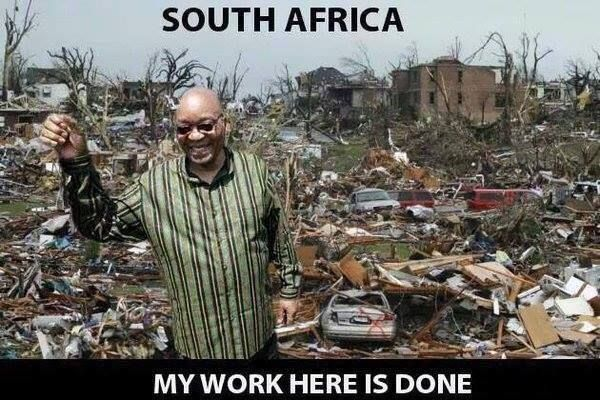Job well done Mr. Jacob Zuma. Funny photo of Jacob Zuma.