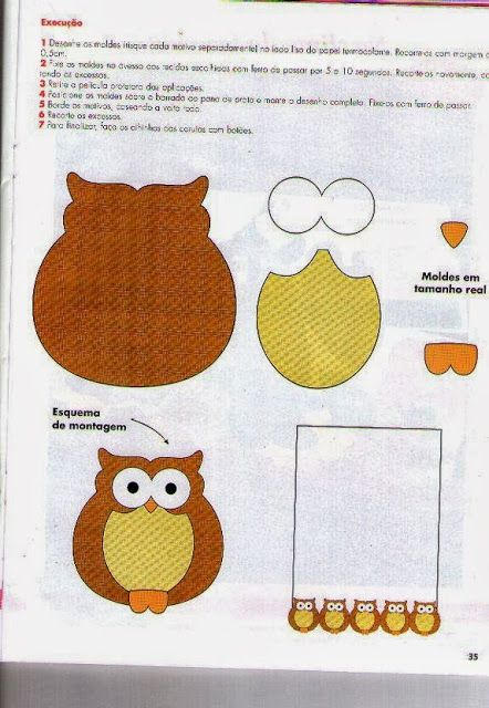DIY Felt Owl - FREE Pattern / Template