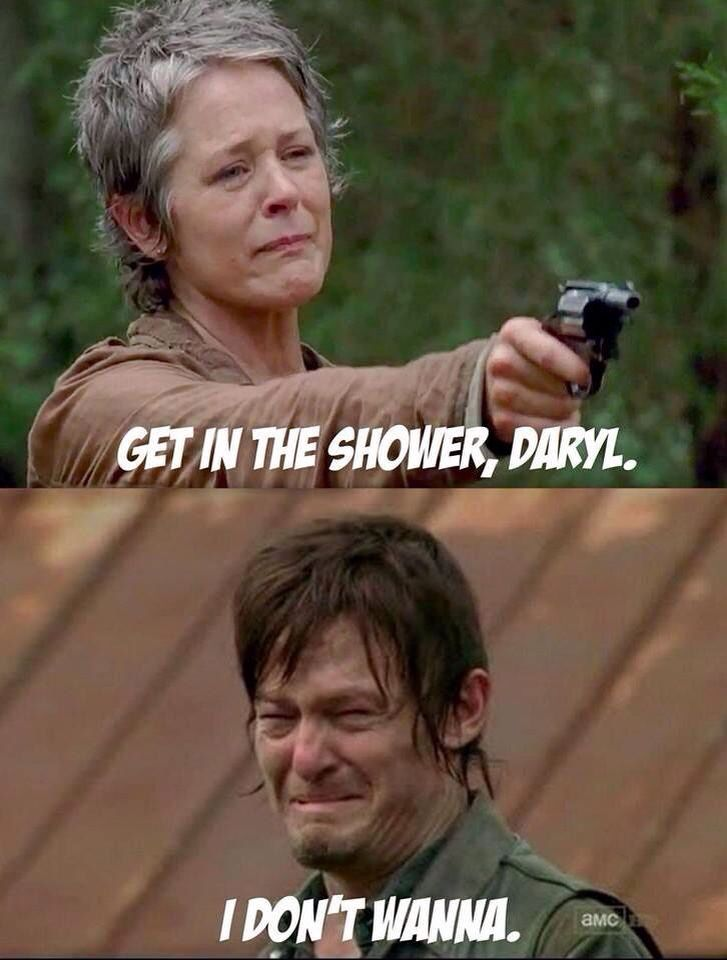 I feel like everyone needs a shower in this show! Ya'll are dirty and greasy looking.