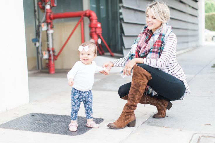 Staple Fall Outfit – Boots, Stripes, and Plaid - mom uniform
