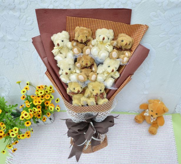Teddy bear bouquet.