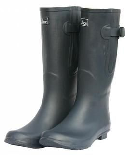 black extra wide fit wellies