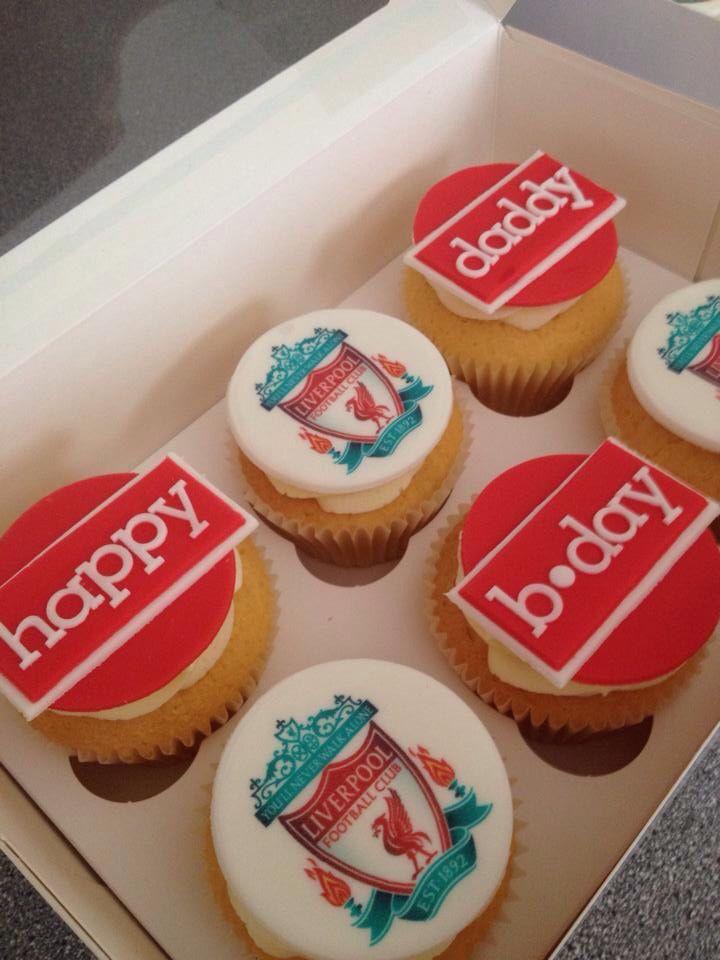 Liverpool football club cupcakes #yummiliciouscakes