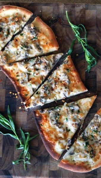 Mushroom, Garlic, and Parmesan Flatbreads