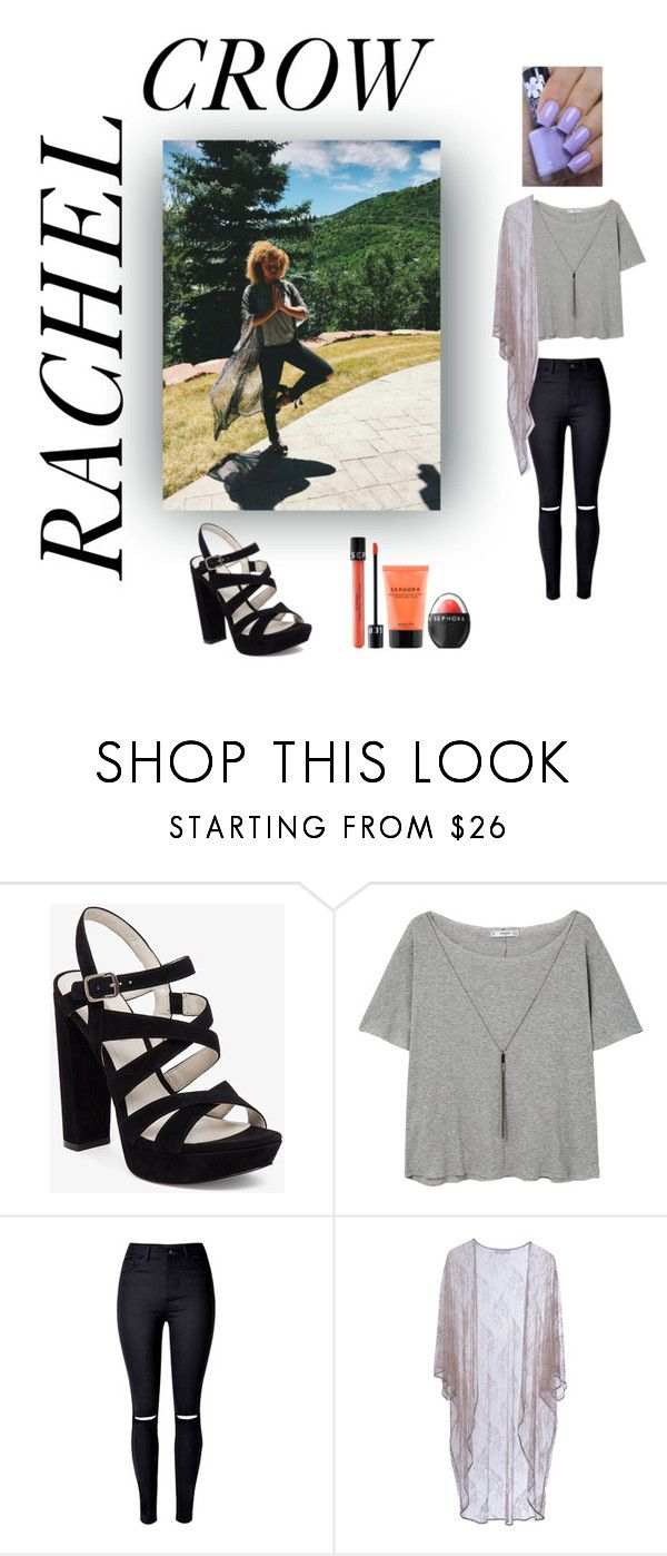 """""""To Rachel Crow"""" by elomila ❤ liked on Polyvore featuring BCBGeneration, MANGO, Roses Are Red, Sephora Collection and Rimmel"""