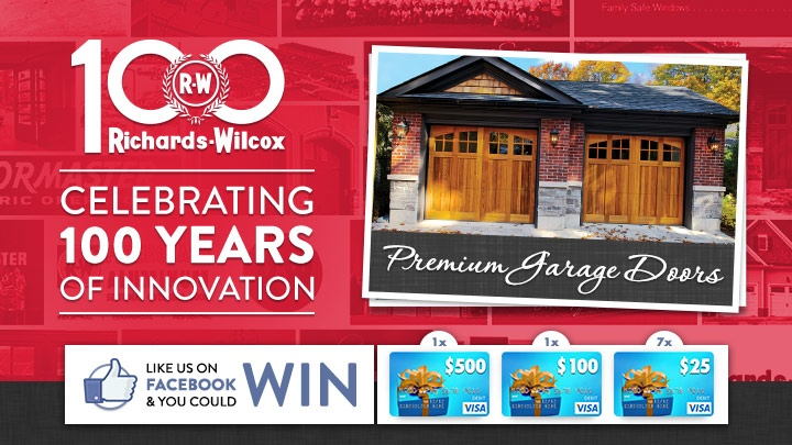 Im Celebrating 100 Years of Richards-Wilcox Doors. There are great prizes and I think one of us could win!