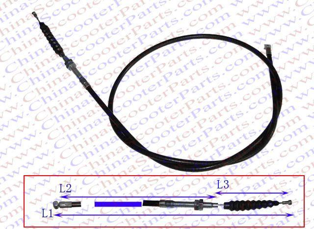 107CM 42.1 Inch Side Adjustable Clutch cable 150CC 200CC 250CC Dirt Pit Bike ATV Quad Parts