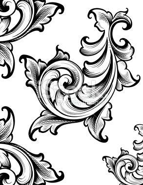Classic Scroll Ornament Royalty Free Stock Vector Art Illustration