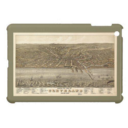 Birds eye view Map of Cleveland Ohio (1877) iPad Mini Cover
