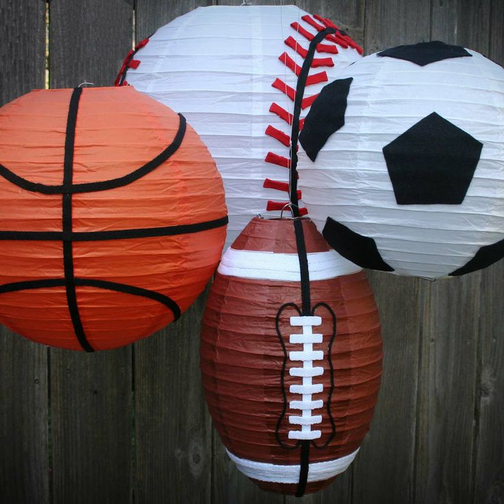 Sport Theme Parties using our Kawaii: http://www.paperlanternstore.com/kapala.html    or Even Ribbing: http://www.paperlanternstore.com/evriropala.html
