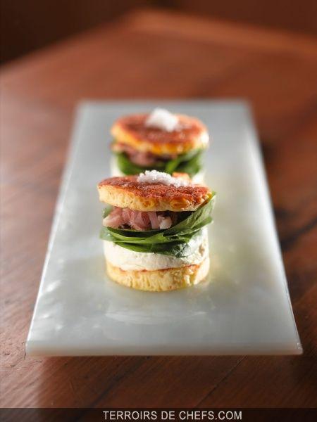 Hamburger au Reblochon de Savoie / Marc Veyrat / De chefs / Recettes - Terroirs de chefs