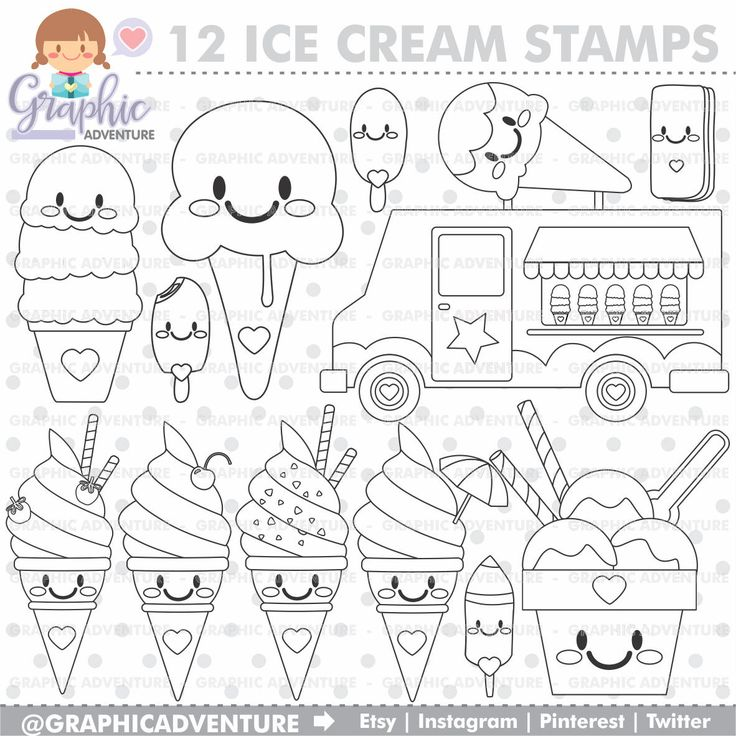 The 25 Best Ice Cream Coloring Pages Ideas On Pinterest