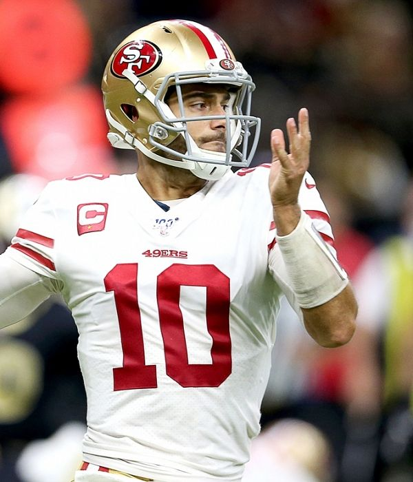 49ers Jimmy Garoppolo Better Than Cowboys Dak Prescott Says Jerry Rice 49ers Nfl Football 49ers Nfl News