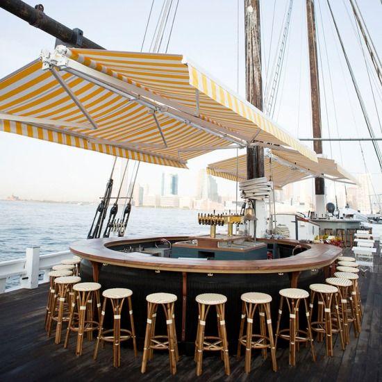 Grand Banks is an award-winning oyster bar aboard a historic wooden schooner, the Sherman Zwicker.