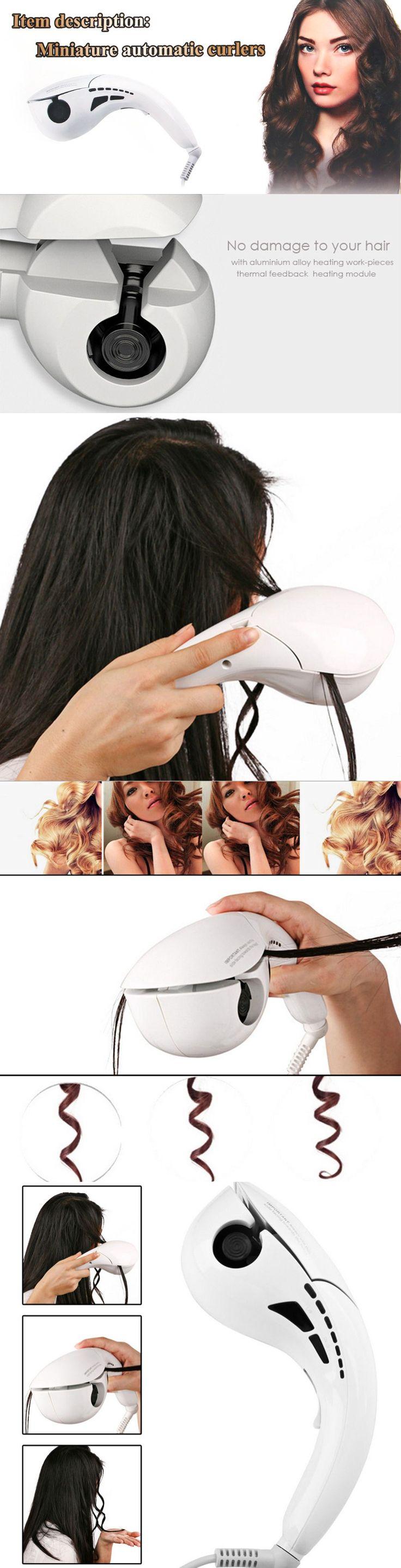 JL - 608PRO - B Automatic Hair Curler - US PLUG WHITE