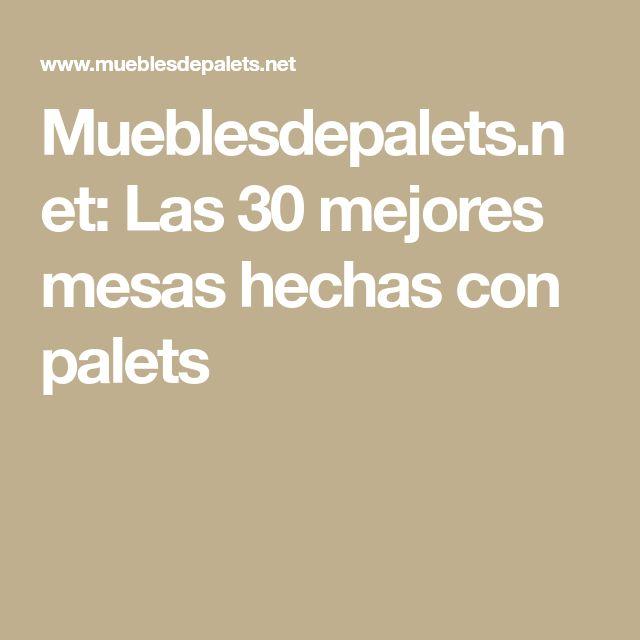 Mueblesdepalets.net: Las 30 mejores mesas hechas con palets