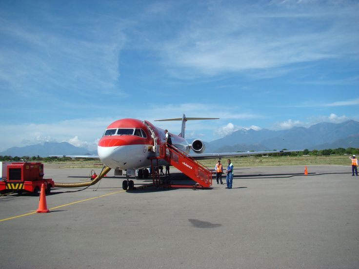 An old Avianca F100 at Valledupar airport, Colombia