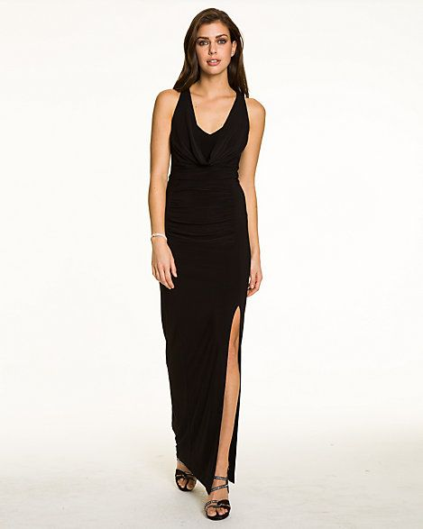 Knit Halter Cowl Neck Gown