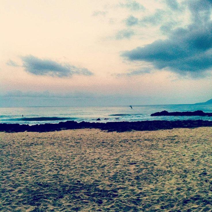Alba sulla spiaggia di Acciaroli - Cilento  #Acciaroli #Cilento #Alba