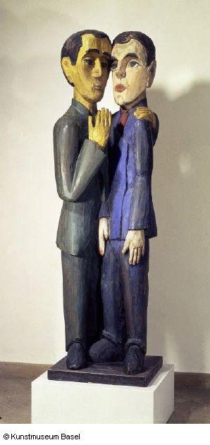 Die Freunde (Hermann Scherer und Albert Müller) (  Die Freunde (Hermann Scherer und Albert Müller) (Ernst Ludwig Kirchner, 1924, Kunstmuseum Basel)