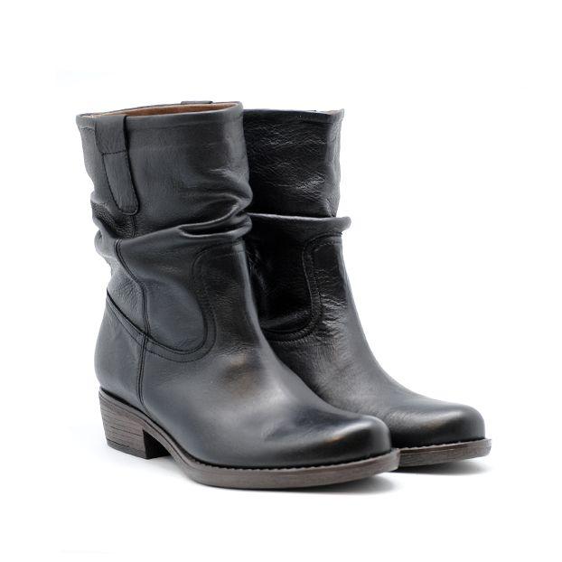 GAIMO Black Leather Biker Boots   Spanish Fashion - SPANISH SHOP ONLINE   Spain @ your fingertips