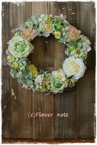 『【フルオーダー】直径30㎝のナチュラルリース』 http://ameblo.jp/flower-note/entry-11555455418.html