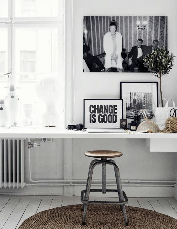 black and white studio