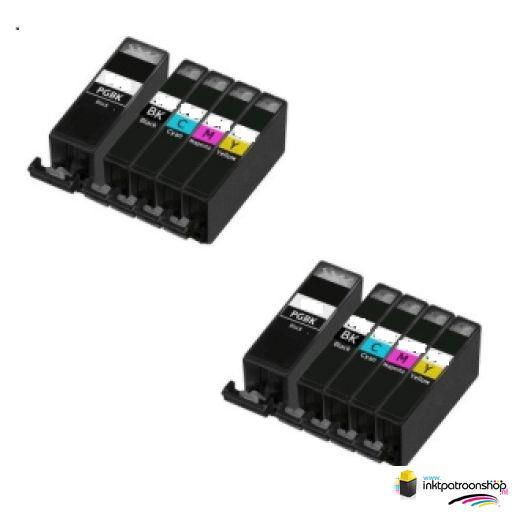 Canon Voordeelpakket pgi-520-cli-521 10 stuks