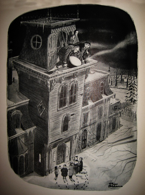 Lurch Gomez and Morticia Dispatching Christmas Carolers 2399 by Brechtbug, via Flickr