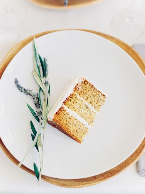 vanilla lavender wedding cake