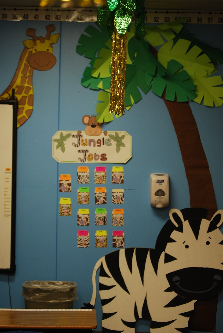 140 best jungle theme classroom images on pinterest for Theme board ideas