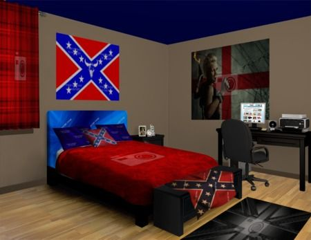 Rebel Flag Wall Murals, who said the South didn't win? Checkout our Rebel Flag designs at http://www.visionbedding.com/WallMurals/RebelFlag.php