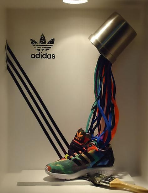 """ADIDAS,""""The Paint Drop"""",by students of Artidi Escuela Superior, Barcelona, Spain, pinned by Ton van der Veer"""