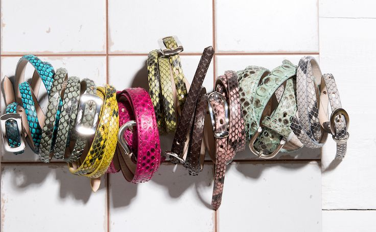 Buckles & Belts - Belt/Gürtel - New Summer Collection 2016 - Pitone - Phyton leather - Go Colors - pink - yellow - mint - rosé - blue - ocean - Design in SWITZERLAND made in ITALY https://www.facebook.com/BucklesBelts