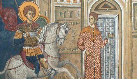 freska Svetog Djordja u manastiru Decani