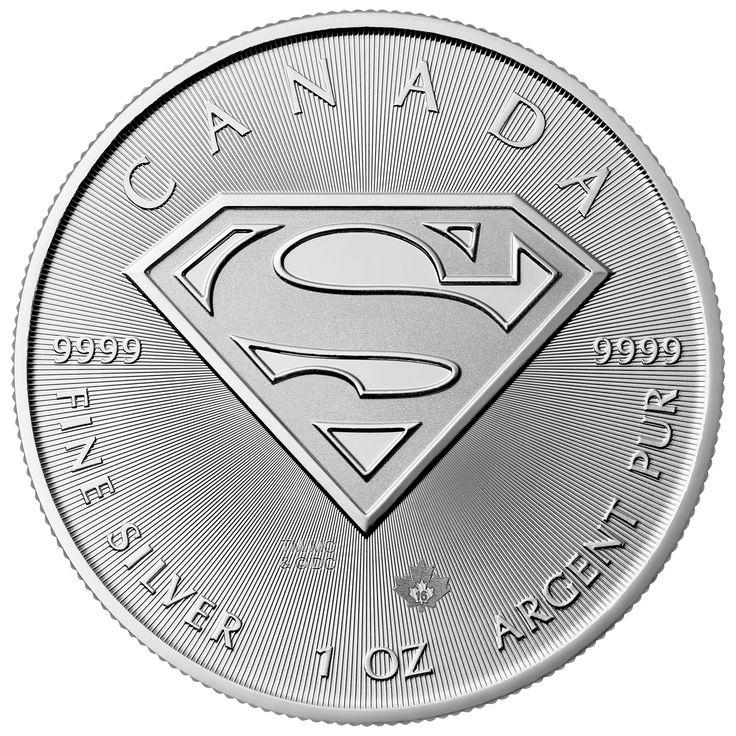 2016 Canada Superman 1 Oz Silver 5 Coin Gem Bu Canadian