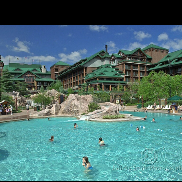 The swimming pool at Disney's Fort Wilderness Lodge Resort in Orlando
