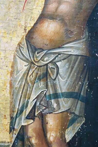 Crucifixion detail-loincloth