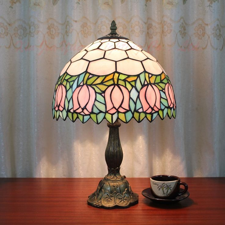 European and american style tiffany rustic living room den rose cafe bar decorated bedroom bedside lamp