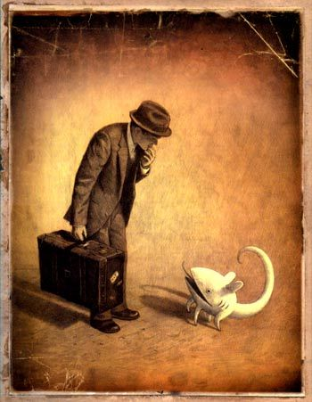 The Arrival, by Shaun Tan is one of my favorite books...it's a migrant story told as a series of wordless images.