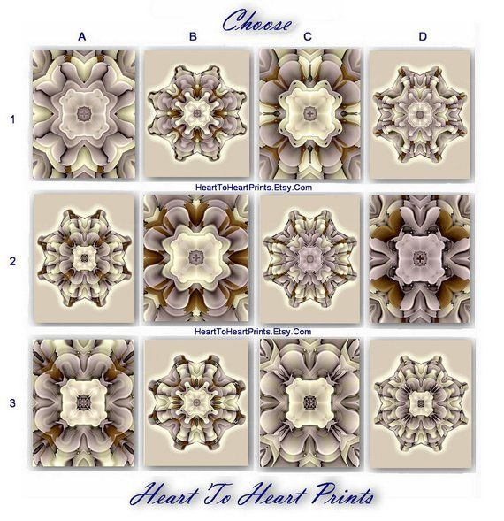 Gray Brown Wall Art Tan Taupe Wall Decor Mandala Rustic Etsy Grey Wall Art Brown Wall Art Flower Prints Art