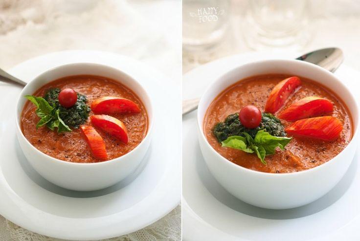 Баклажанно-томатный крем-суп с чили и карри