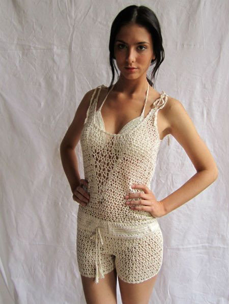 "File under ""bizarre uses for crochet"" or possibly ""wow, I'd never wear that but it's still impressive""."