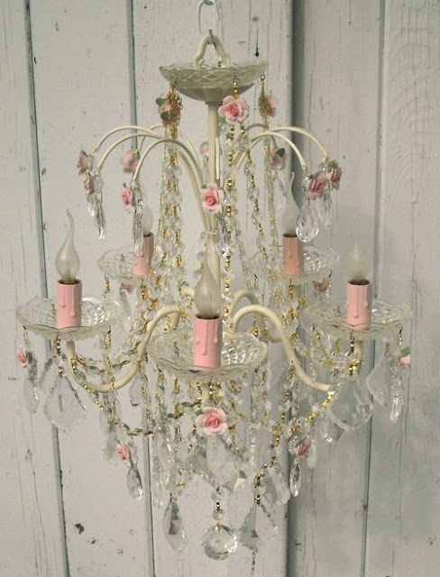shabby chic chandelier.
