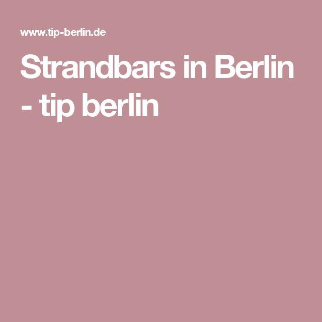 Strandbars in Berlin - tip berlin